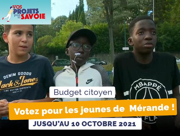 Votez pour le projet des jeunes de Mérande !